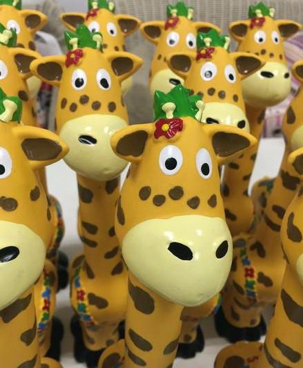 Бесплатная доставка нетоксическо латекс собака игрушки жираф игрушки звук squeaker lovey симпатичные собака играть в игрушки