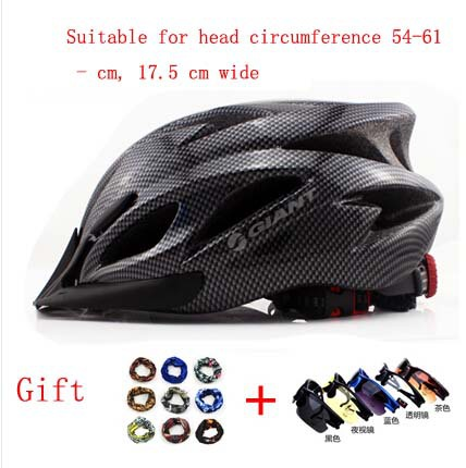 Free Shipping GIANT Bicycle Helmet Safety Cycling Helmet Bike Head Protect custom bicycle helmets Gift Glasses and Magic Scarf(China (Mainland))