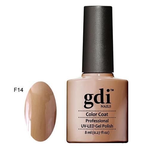 F14 My Latte GDI Nails Nude Brown Classic UV LED Soak Off