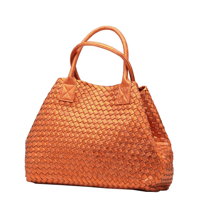 Woven bags OL snake embossed electro-optical color hand woven shopping bag of the new spring/summer necessary handbag(China (Mainland))
