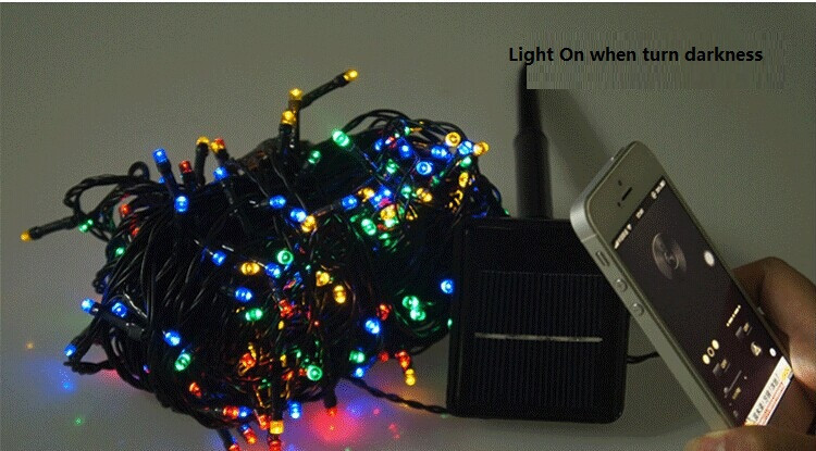 40FT 12M solar power LED holiday lights ,shinning Christmas lights ,water proof sparking led string CL-006(China (Mainland))