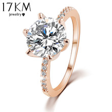 Christmas Gift High quality Silver Gold Plated Crystal Ring Fine Jewelry  Wedding Rings For Women Accessory anillo(China (Mainland))