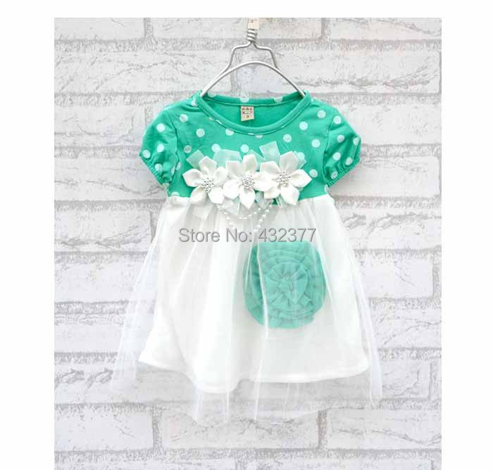 2016 Toddler Baby Girls Floral lace Dress Kids Summer Beach dress baby Princess Newborn Clothes - Fashion kids select store