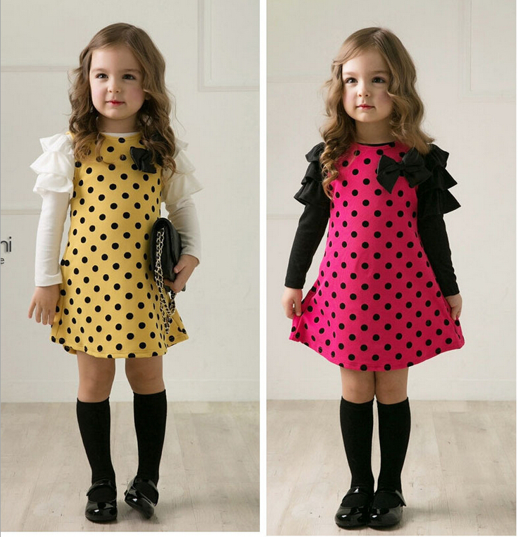 Online Buy Wholesale girls polka dress from China girls polka ...