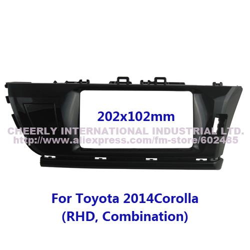 Special Car Facia Fascia Toyota 2014 Corolla Combination RHD OEM Size DVD Stereo Audio CD Dash Installation Panel Kit Frame - Cheerly International Industrial Ltd. store