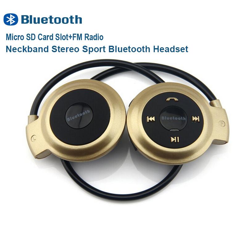 Mini503 Sport Bluetooth 3.0 Wireless Headphones StereoEarphones Micro SD Card Slot FM Radio for Samsung Apple HUAWE(China (Mainland))