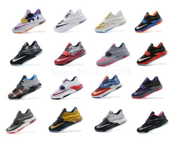 Free Shipping 2015 Classic Sneakers kd 7 basketball shoes High Quality Durant kd men sneakers Kevin Durant VII Shoes Size 7-12(China (Mainland))