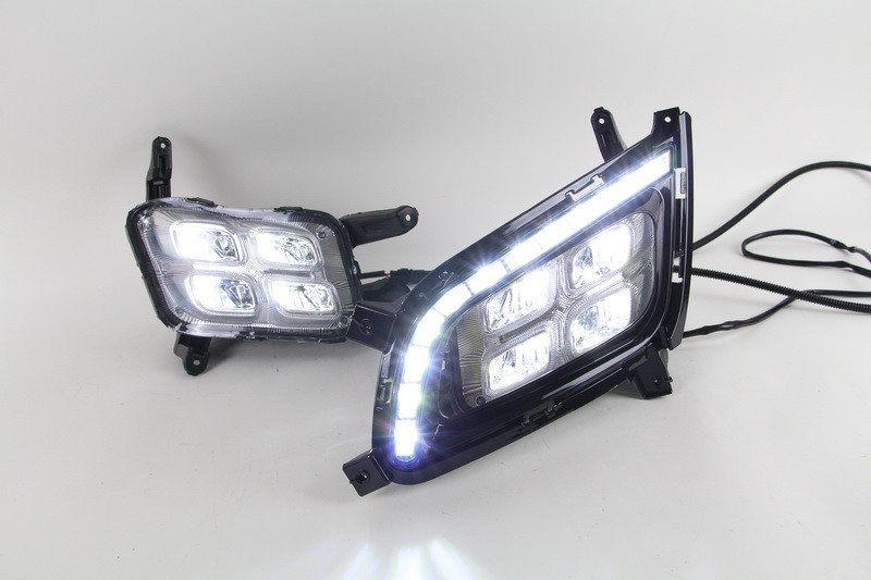 LED Daytime Running Lights DRL Lamps For Kia Optima Replacement Aftermarket Car Modification Styling Parts 2014