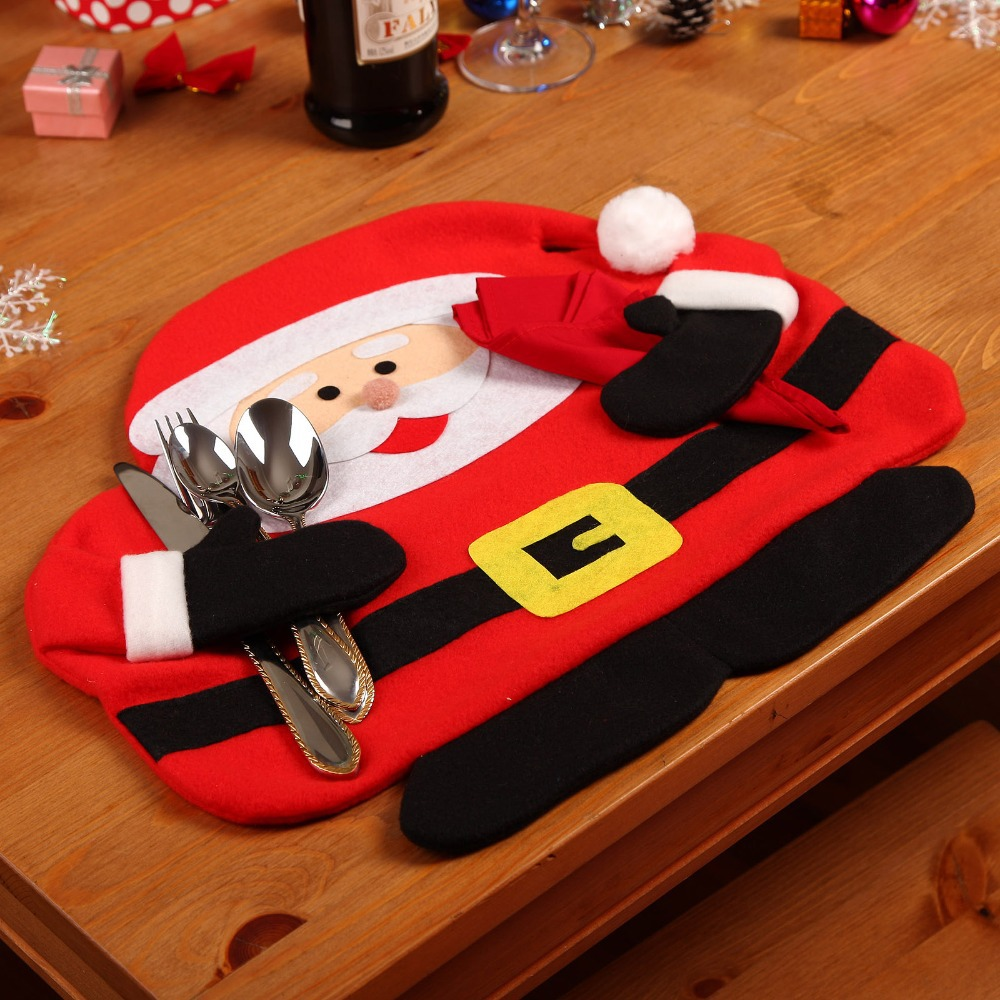 Newest Santa Claus Placemats Mat Place Mat Pads Dinner Dining Table Christmas Supplies Decorations Ornament(China (Mainland))