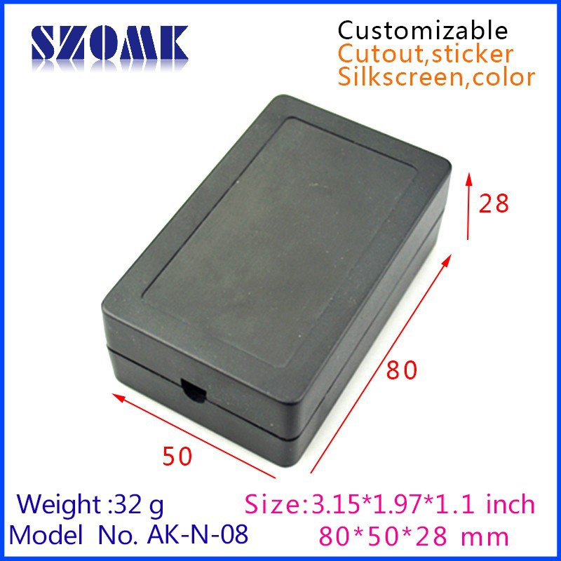 50 pcs/lot shenzhen China manufacture enclosure abs project electronic enclosure plastic 80x50x28mm(China (Mainland))