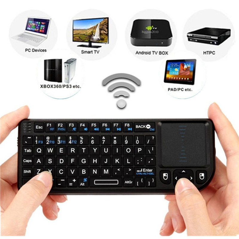 Universal 3 in 1 X1 Type Handheld 2.4G RF Wireless Keyboard Qwerty with Touchpad Mouse Pro for PC Notebook Smart Google TV Boxes(China (Mainland))