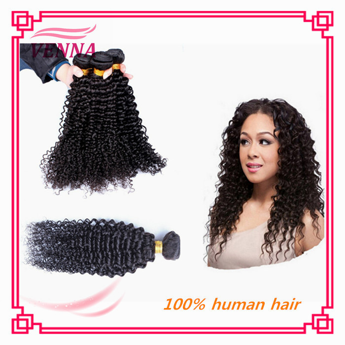 100% unprocessed brazilian virgin kinky curly hair bundles - Guangzhou Venna Hair Products store