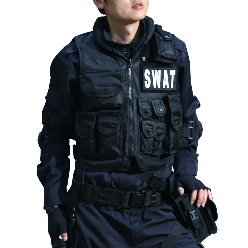 Outdoor swat tactical vest swat vest Give the magic stick Military protective equipment CS game equipment SWAT/FBI/POLICE(China (Mainland))