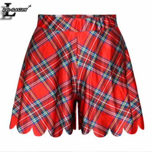 New 2016 Fashion Women Mujer Jupe Summer Shorts Skirts Interest Popular Sexy Casual 3D Print Red