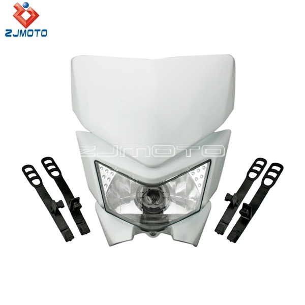 ZJMOTO Motorcycle Dirt bike Motorcycle Universal  Vision Headlight For  kawasaki KLX450 Fit Off Road Dirt Bike Pit Bike CRF KLX