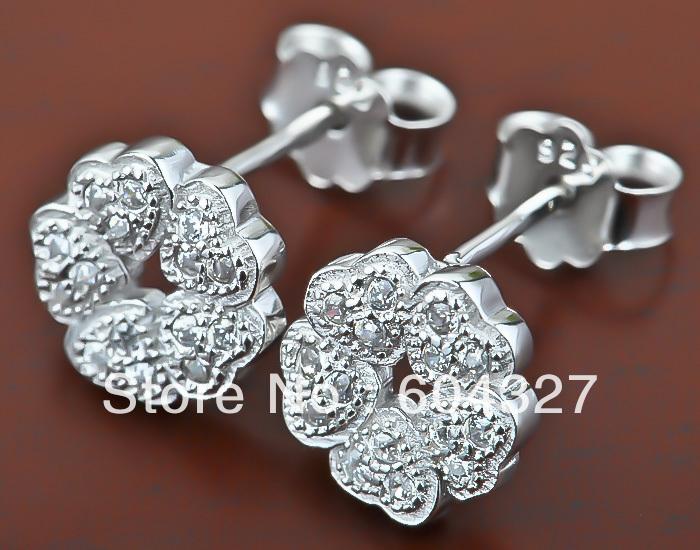 новые 925 Серебрянные серьги моды Серебряный