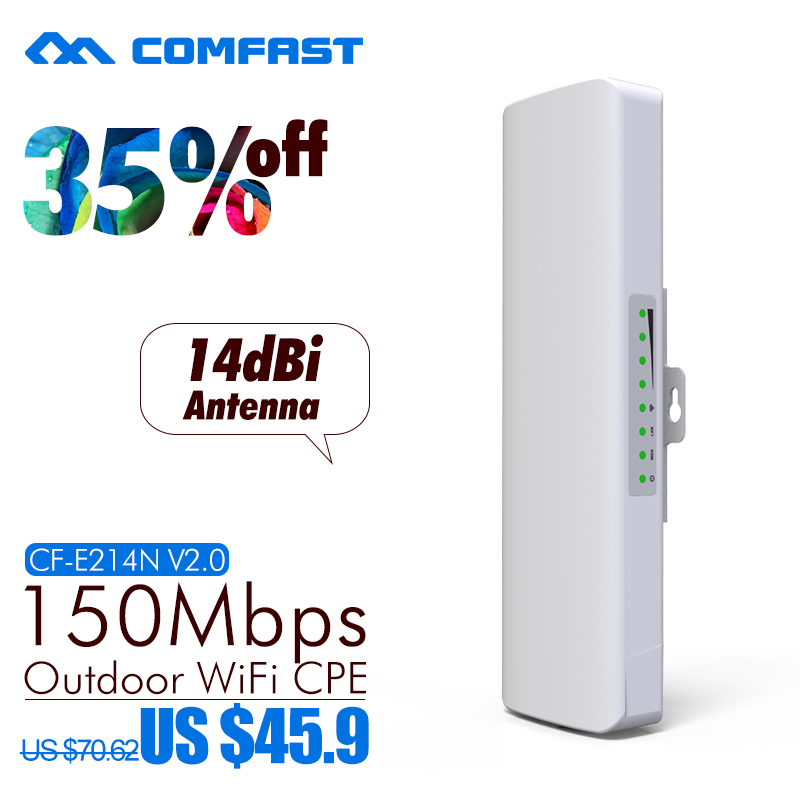 COMFAST CF-E214N 150Mbps High Power Outdoor Wireless AP/ wifi repeater 12dBi High Gain Wifi antenna Receiver/transmitter wi-fi(China (Mainland))