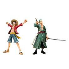 Buy Japanese Anime Cartoon One Piece New World Monkey D Luffy vs RORONOA ZORO Action Figures PVC Tos Doll Model Collection Toys for $11.11 in AliExpress store
