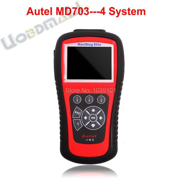 Autel Maxidiag MD703 OBD2 Автомобиля Код Scan Tool 4 Systems Md703 Обновление Через Интернет Бесплатная Доставка DHL