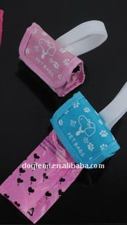 Free shipping! ( 10 sets), Wholesale Dog Poop bag, dog dispenser bag with waste bags, different colours available