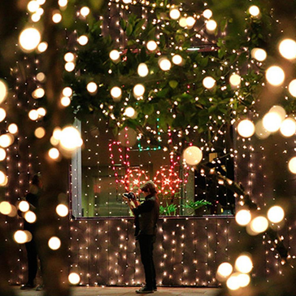 Wholesale string light led cotton ball lights garden for Christmas lights and decorations