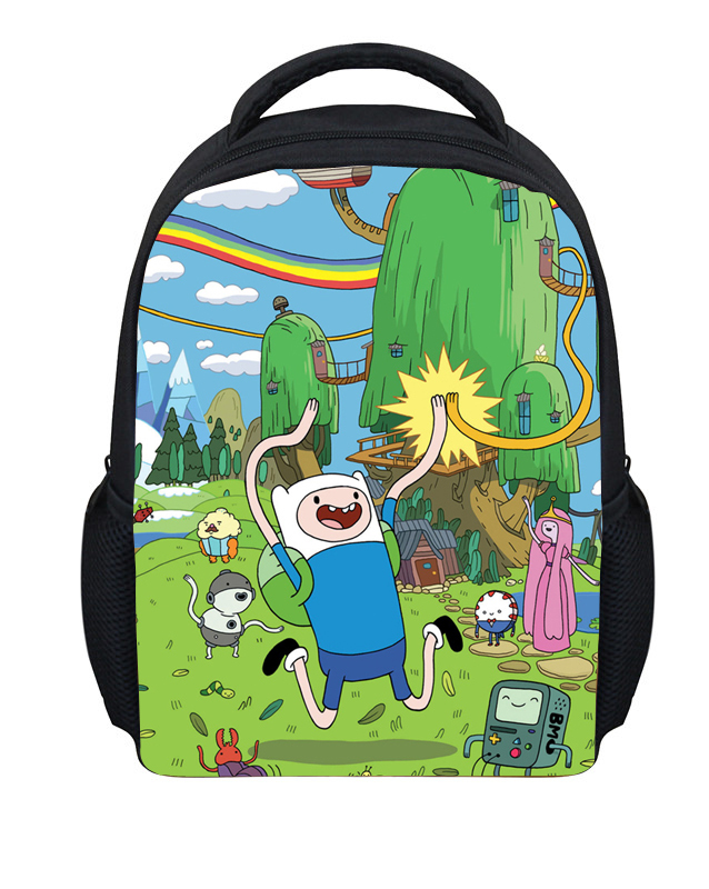 Fashion Cartoon Adventure Time Backpack Children Kindergarten School Bags Cute Finn and Jake Bagpack Boy Small Kids Backpack(China (Mainland))