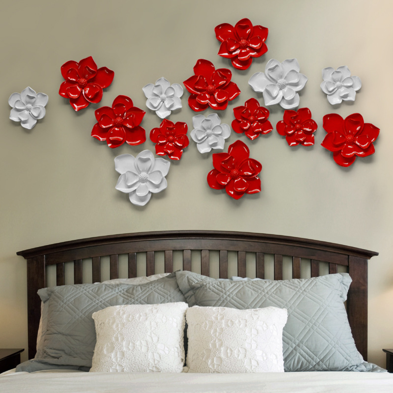 5pcs/lot 3Colors Size L,M for 3D Resin Wall Poster HOME Decoration TV Back ground Wall Decoration Resin Artware Stickers(China (Mainland))