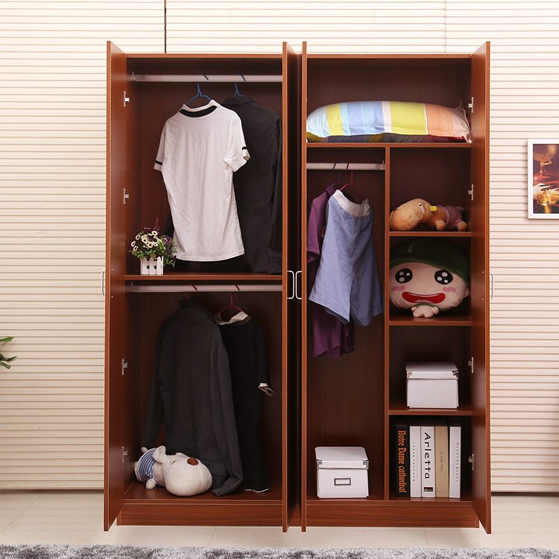 Simple Solid Wood Plate Combination Plate Wardrobe Whole Wardrobe 2 3 4  Children U2026