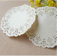 """Free Shipping Creative Craft 3.5"""" Inch Round White Paper Lace Doilies Cake Placemat  Party Wedding Gift Decoration 100pcs/pack"""