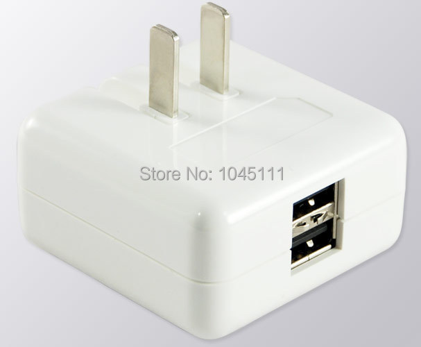 PLUGO USB031WH Traveller AC To 5V2A Dual USB Charger Adapter for IPHONE / IPAD / Air2 / Samsung S4 S5 Note3 / Cell Phone