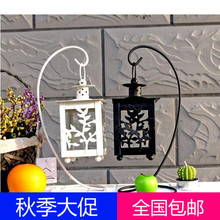 The European Iron Candle Lantern Home Furnishing jewelry ornaments iron carving lantern wedding birthday gift(China (Mainland))