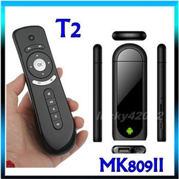 MK809 II Dual Core Android 4.4.2 TV BOX Wifi 1GB RAM 8GB HDMI Bluetooth Google TV Box Mini PC RK3066 +Gyroscope T2 air mouse