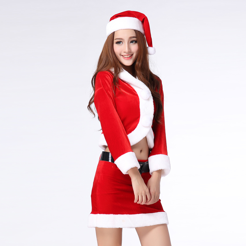 Christmas costume sexy red elf suit women christmas cosplay clothes