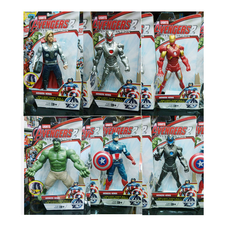 2015 New The Avengers Action figures Plastic Super Heroes The avengers Heroes party decoration(China (Mainland))