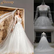 Generous White Sheer Lace V Neck Zuhair Murad Tulle Court Train Wedding Bridal Dresses With Long