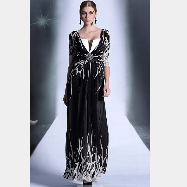 Hot 2015 designer mother of bride dresses sexy long patch for Black designer wedding dresses