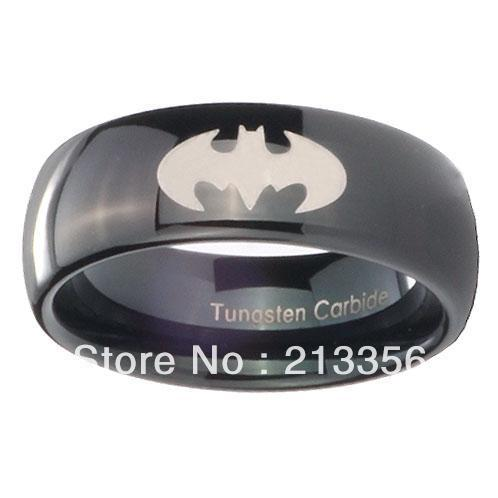 Popular tungsten batman ring buy cheap tungsten batman for Batman wedding rings for men