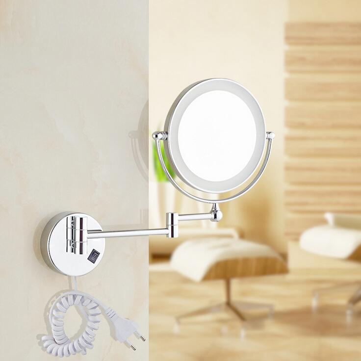 Free Shipping 8 LED light Wall Mounted Round Magnifying Mirror LED Makeup  Mirror battery make. Popular Handbag Mirror Blanks Buy Cheap Handbag Mirror Blanks lots