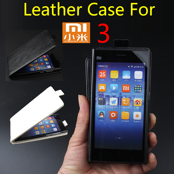 5,New 2014 Luxury Flip Genuine Leather Case Cover Xiaomi Mi3,Original Phone Bag,Free Screen Protector/ - MMZ Union Source store