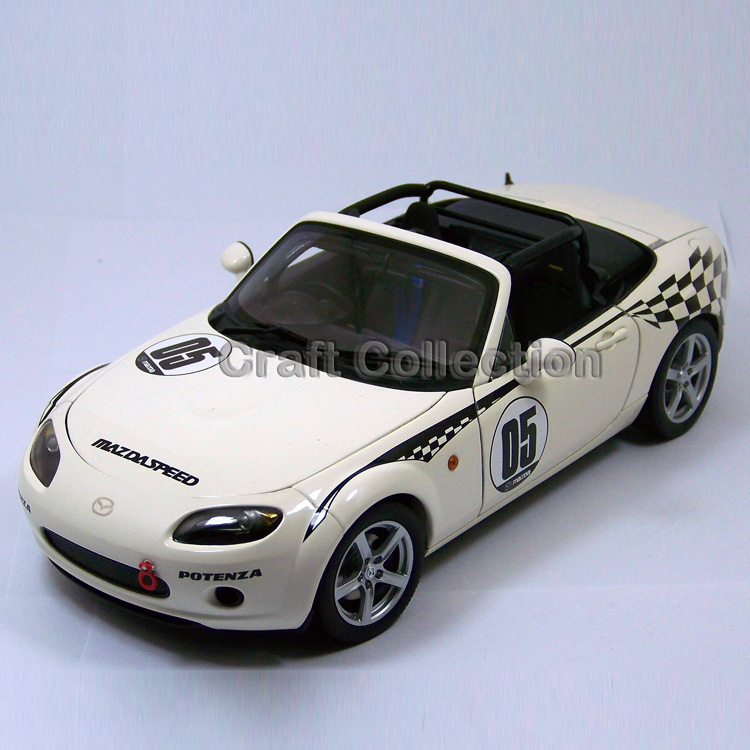 White Auto Art 1/18 MAZDA #05 Sport Coupe Car Alloy Model Car Convertible Classical Miniature Toys Limited Edition(China (Mainland))