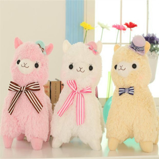 Super Cute 35cm Alpacasso horse standing Topper hat alpaca stuffed animal sheep toy doll Kids Christmas Birthday gift(China (Mainland))