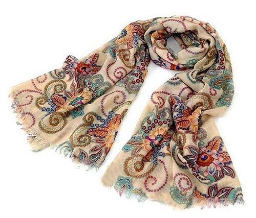 Женская хлопок смесей тотем ретро богемия шали шарфа благородный шаль