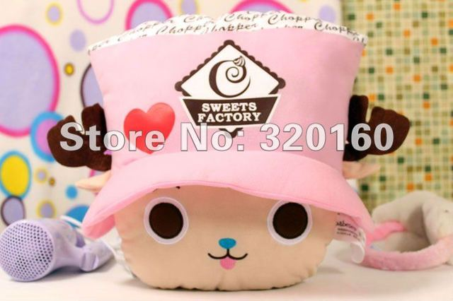 Lovely One Piece Chopper pillow Creative animation surrounding plush dolls doll birthday gift Home accessary