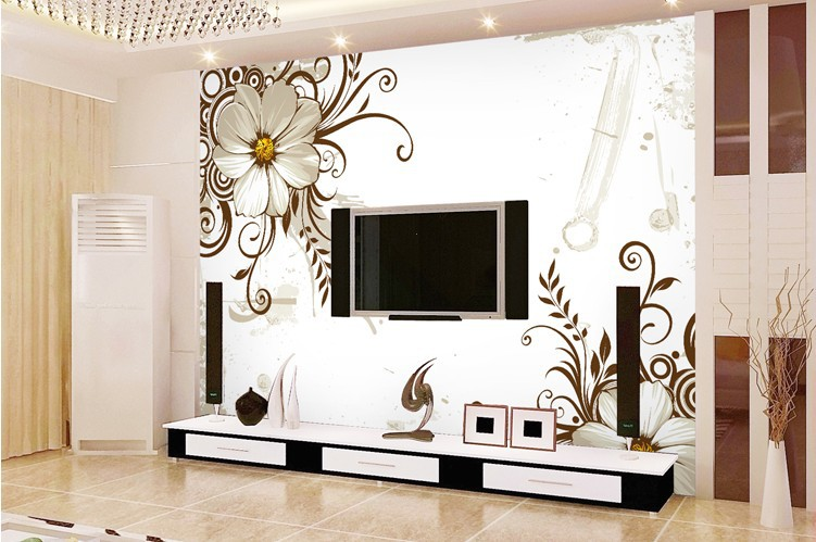 wallpapers for living room flower printing wall paper 3d wallpaper