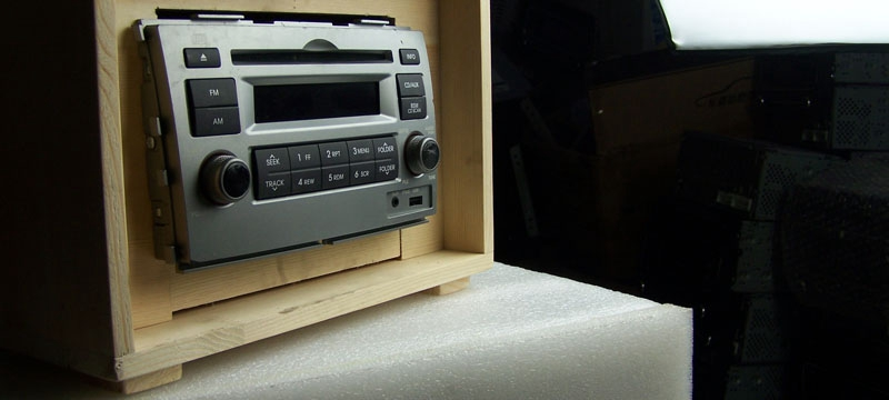 Cheap new listing handmade wood car CD host refit wooden home speakers(China (Mainland))
