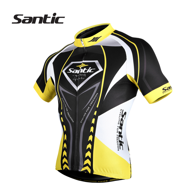 Santic Men Cycling Jersey 2015 Quick Dry Cycling Clothing Shirt Short Sleeve Outdoor Sports Bicycle Bike Jersey Ropa Ciclismo