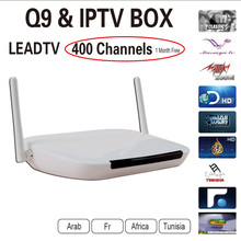 Android Tv Box Q9 Android4.4 1G/8G Wifi Quad Core + One Month Iptv Subscription Iptv Account With 400 Arabic French Channels