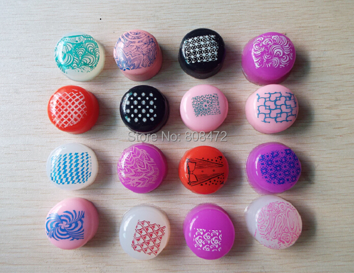 FREE SHIPPING 2015 New Stamper Plug Marshmallow Candy Refill Squishy Silicone Soft Nail Stamp(China (Mainland))