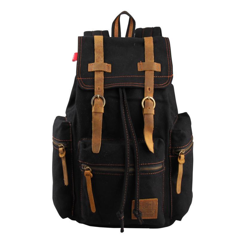VEEVAN Rucksack Men's Canvas Backpack Leisure Travel Bag Outdoor Backpack Vintage Fashion Men's Laptop Backpacks School Bags(China (Mainland))