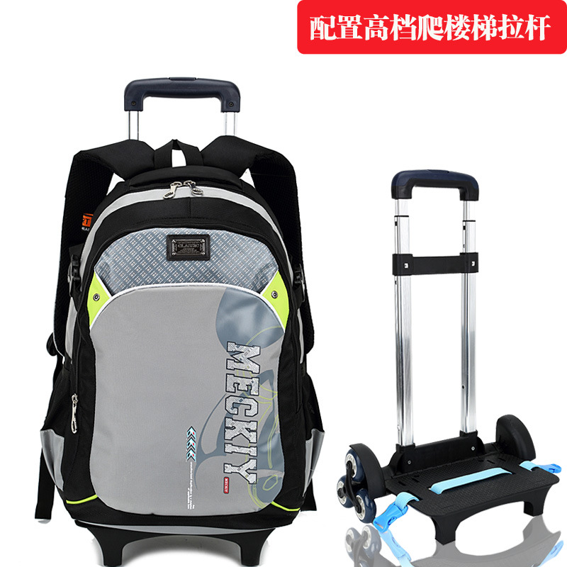 Boys Girls Nylon Primary Middle School Backpack Waterproof Trolley Bags Wheels - Fashion Store store